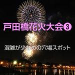 戸田橋花火大会2019の穴場スポット!混雑を避けてのんびり見られる場所は?
